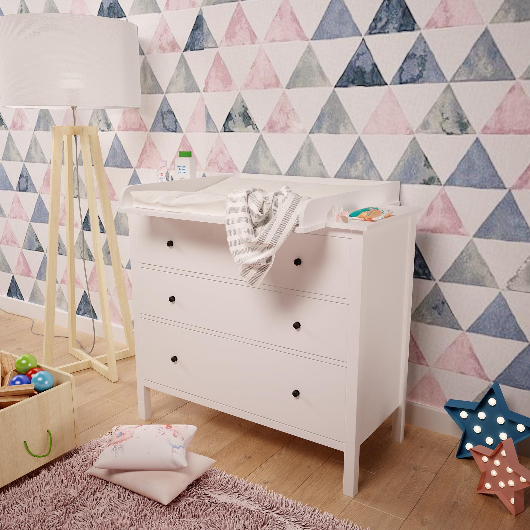 Details zu Wickelaufsatz Wickeltischaufsatz für IKEA Malm Hemnes Nordli